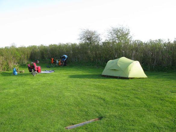 Eindelijk een tentenveldje.
