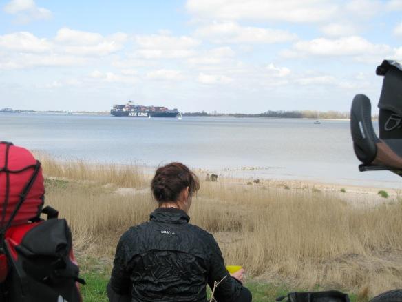 Uitzicht over de Elbe